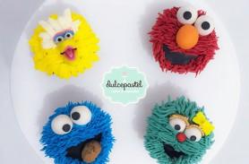 cupcakes elmo plaza sesamo envigado medellin dulcepastel