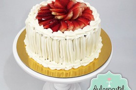 torta fria fresas envigado medellin dulcepastel