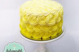 torta flores amarillas envigado medellin dulcepastel