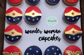 cupcakes mujer maravilla medellin dulcepastel