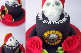 torta calavera guns roses medellin dulcepastel