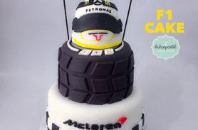 torta f1 casco llanta medellin envigado dulcepastel