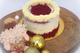 torta red velvet navidad medellin envigado dulcepastel