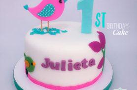 torta pajaro cumpleaños medellin dulcepastel