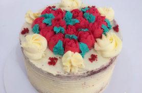 torta red velvet amor medellin dulcepastel