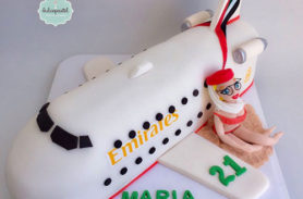torta avion azafata medellin dulcepastel