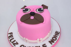 torta perro pug medellin dulcepastel