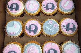 cupcakes baby shower niña medellin dulcepastel