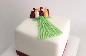 torta elegante flores medellin