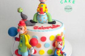 torta payasos medellin dulcepastel