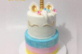 torta unicornio arcoiris medellin dulcepastel