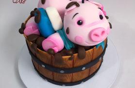 torta cerdito medellin dulcepastel