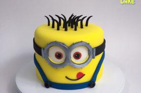 torta baby minion medellin dulcepastel