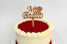 torta red velvet bautizo dulcepastel