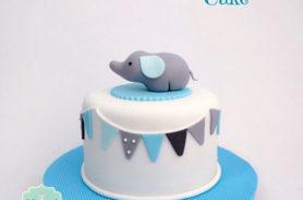 torta baby shower elefante medellin dulcepastel