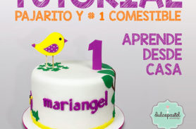 tutorial pajarito fondant medellin dulcepastel