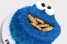 torta cookie monster medellin dulcepastel