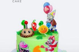 torta plantas vs zombies medellin dulcepastel
